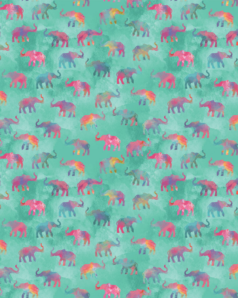 Rainbow Elephants on Parade