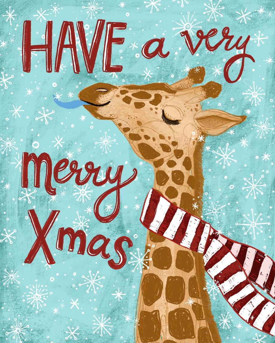 Merry Xmas Giraffe