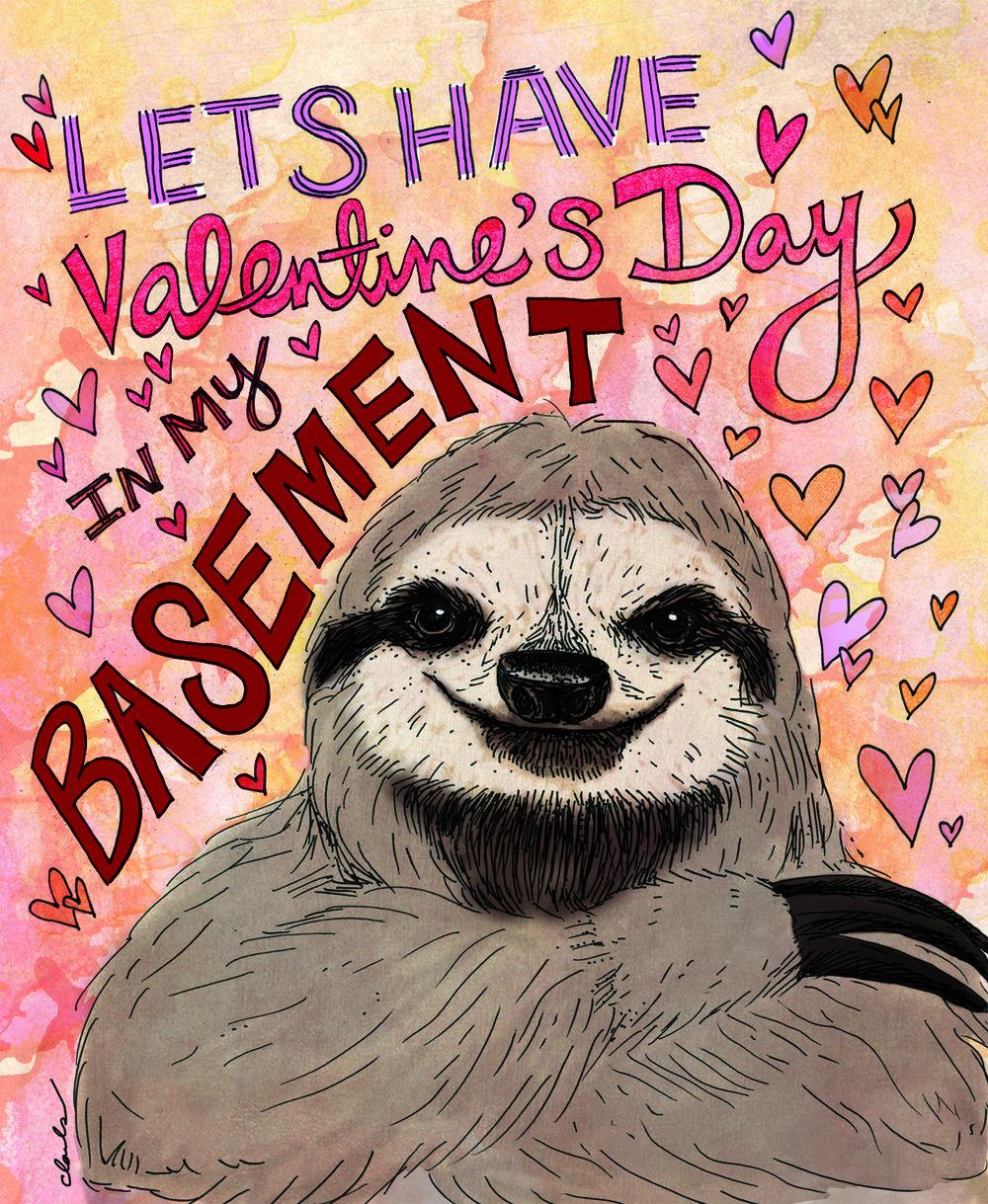 Sloth Valentine's