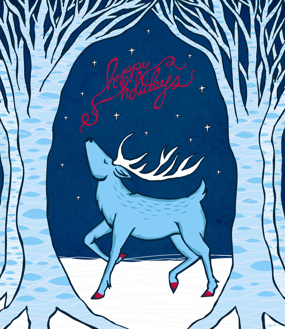 Happy Holidays Deer