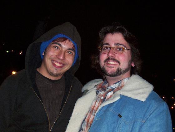 Chris and Andy circa 2003