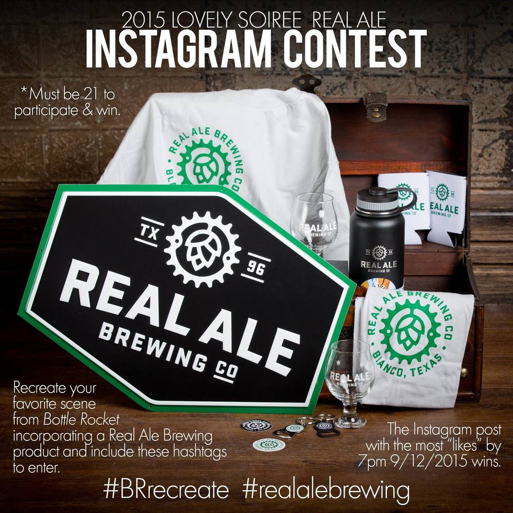 Real Ale Brewing Co. Prize Pack for Intsagram Contest - Winner Matt Reuber