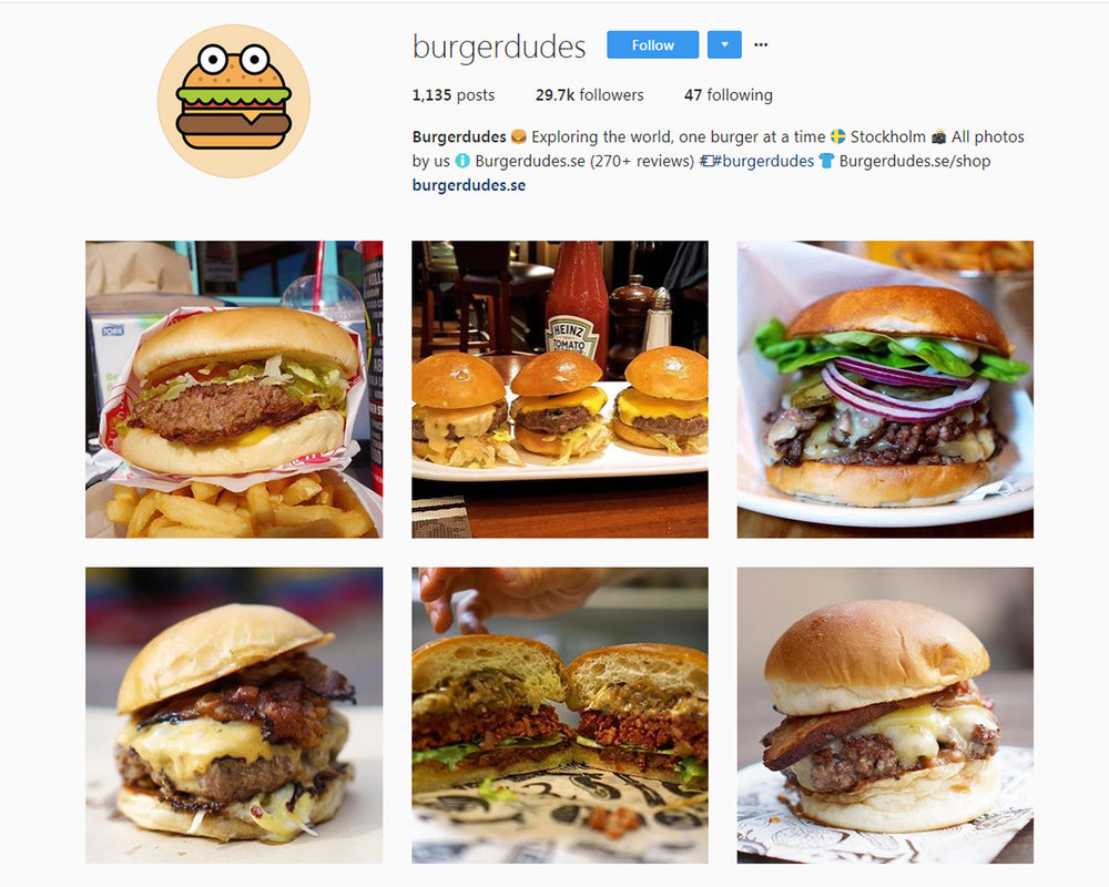 Follow  BURGER DUDES  on Instagram.
