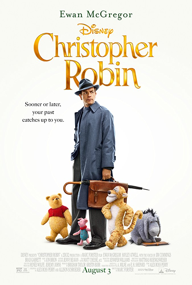 1. Christopher Robin - Look, I know I'm a grown man but this pudgy little bear named after feces has had my heart since I was a little boy. And before you make too much fun this is directed by Marc Forster, the man who directed Machine Gun Preacher, World War Z, and Monster's Ball...Pooh might get weird and I want to see every second of it. Oh, Bother!