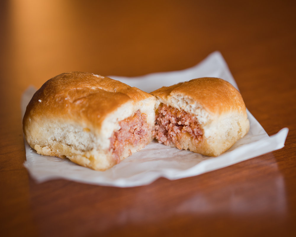 This good-sized klobasnek was stuffed full of ground sausage. It was wonderfully seasoned and the roll had a nice yeasty sweetness to it. I also picked up two jalapeno sausage rolls for the road and they were  delicious !
