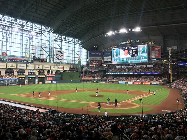 Houston Astros - Minute Maid Park (The Astros' current home, though when it first opened they were in the National League)