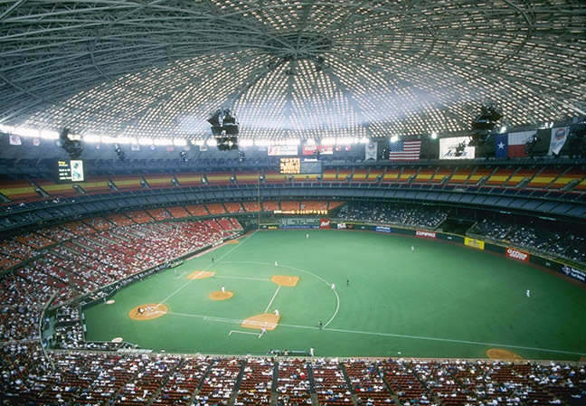 Houston Astros - The Astrodome (*defunct, The Astros made it on both lists but were a National League team throughout their tenure at The Astrodome)