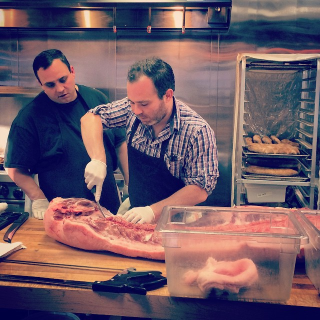 @phague breaking down a Finn Medows pig.
