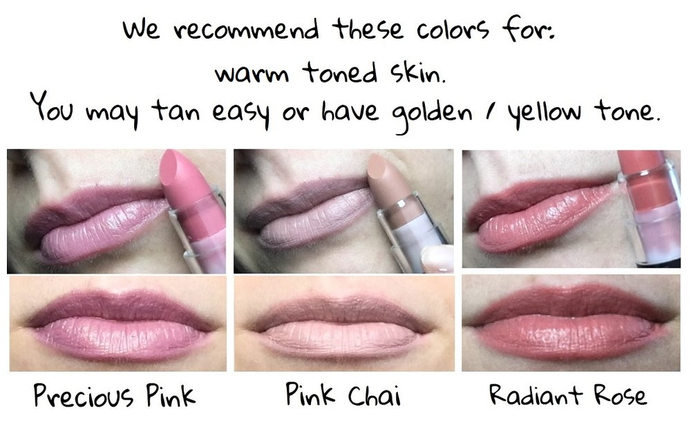 Lipsticks for warm skin tone