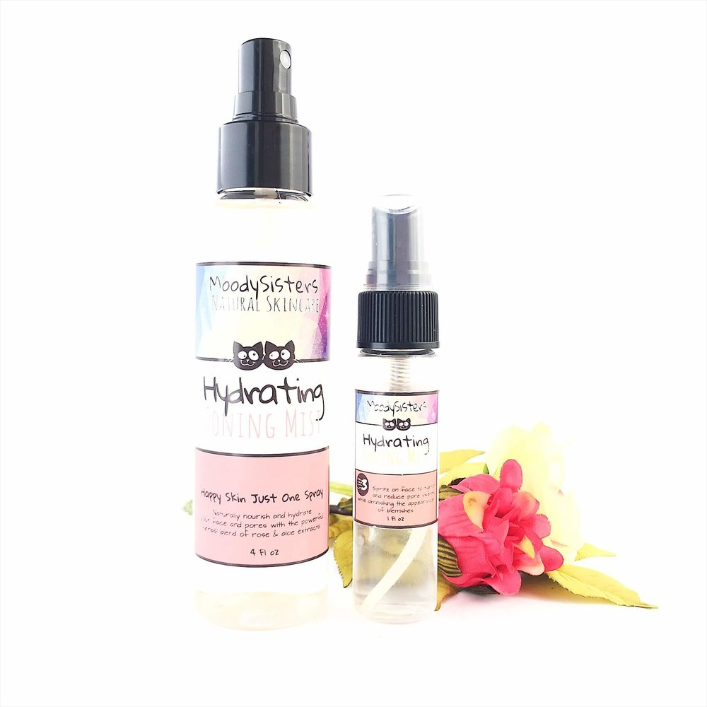 Hydrating Toning Mist for dry skin rose hydrosol