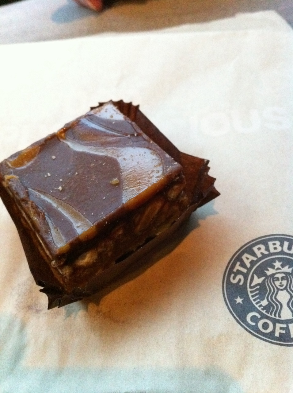 Salted Caramel Sweet Square, Starbucks.