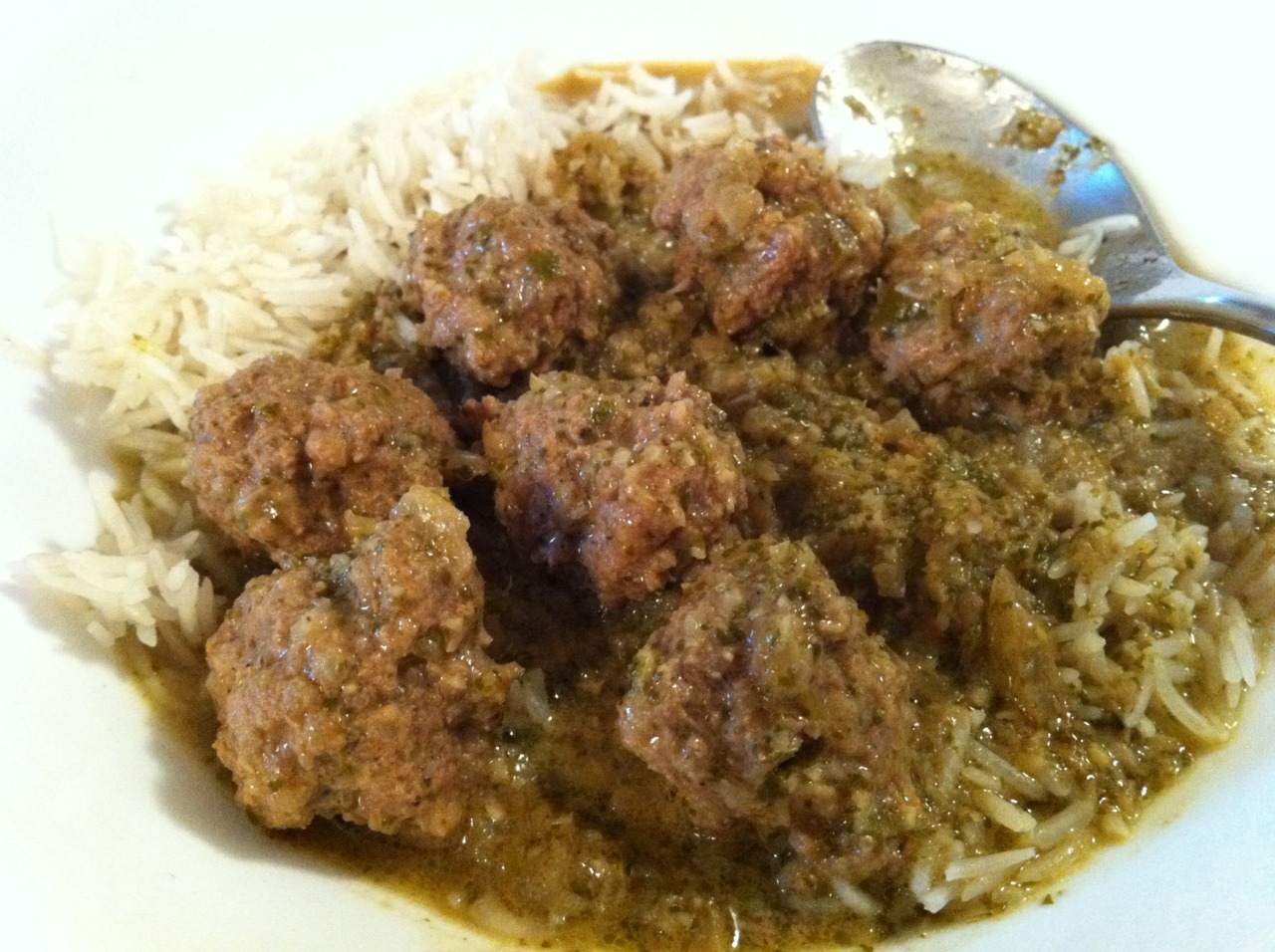 Lamb Meatballs in Green Curry
