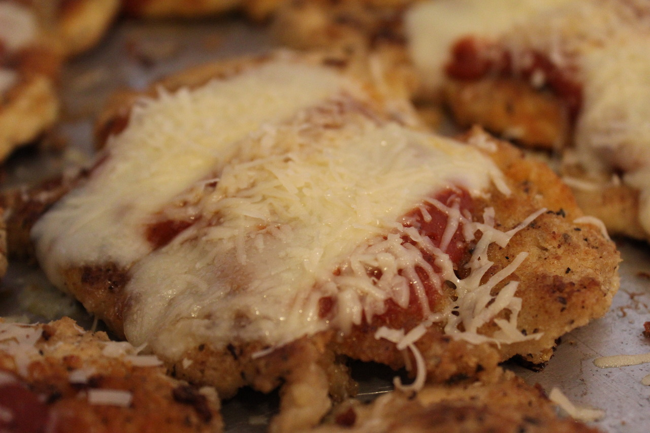Chicken Parmesan, we had 12 pieces from one package of chicken!