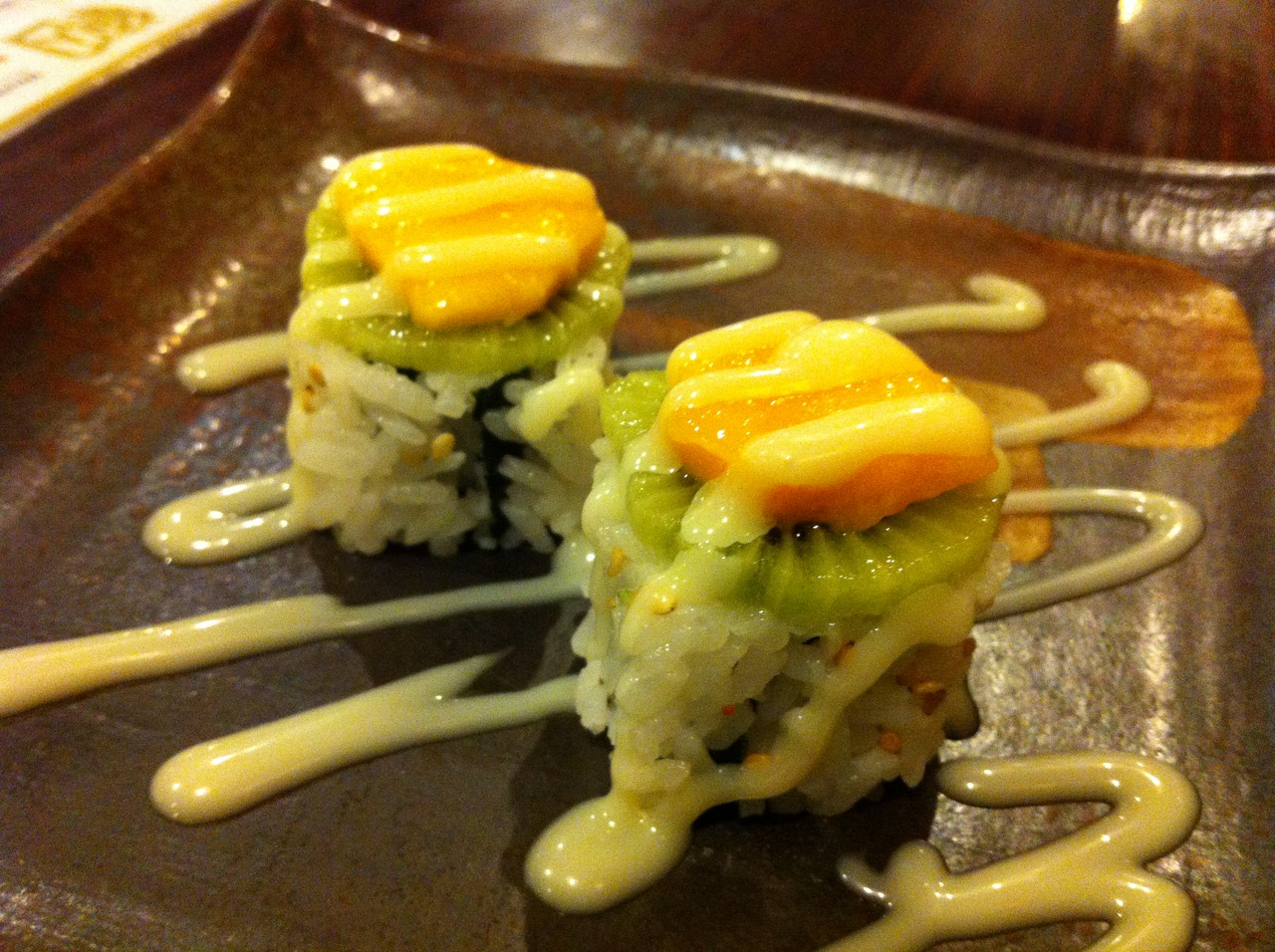 Kiwi Shrimp roll they made for us at Misako. It was refreshing.