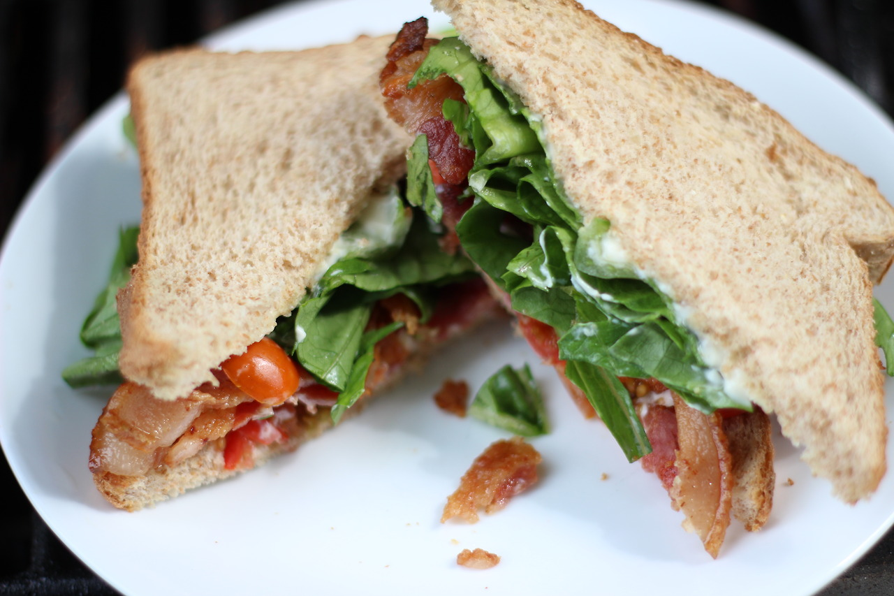 Classic BLT, well I added mayonnaise. I always add mayo.    i<3food