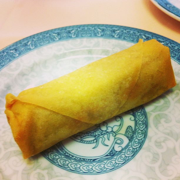Spring roll at Judy's Virginia Beach, VA (at Judy's Sichuan Cuisine)