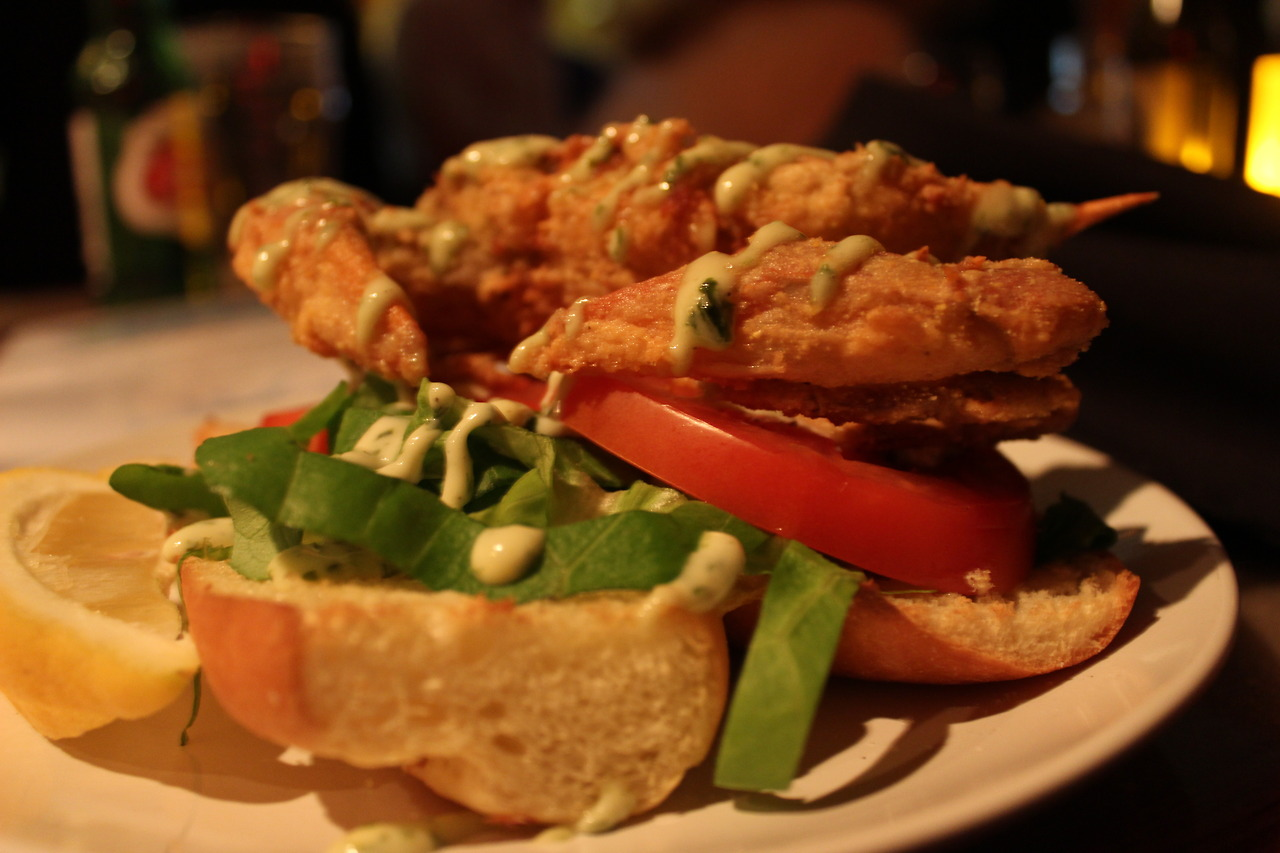 Soft-shell Crab Po' Boy from  Pacifica , Virginia Beach, VA    i<3food