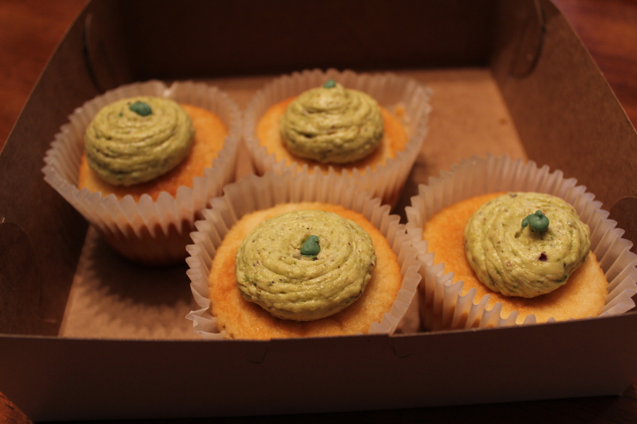 Pistachio Buttercream cupcakes from  Cafe Stella , Norfolk, VA.   i<3food
