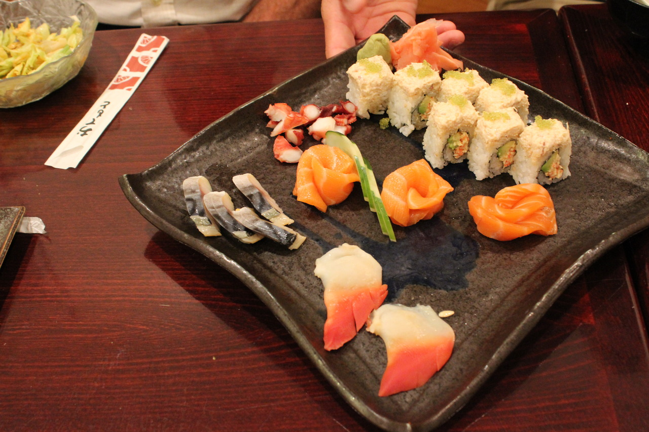 Misako with friends. Red clam, George Roll, and select pieces from Misako.
