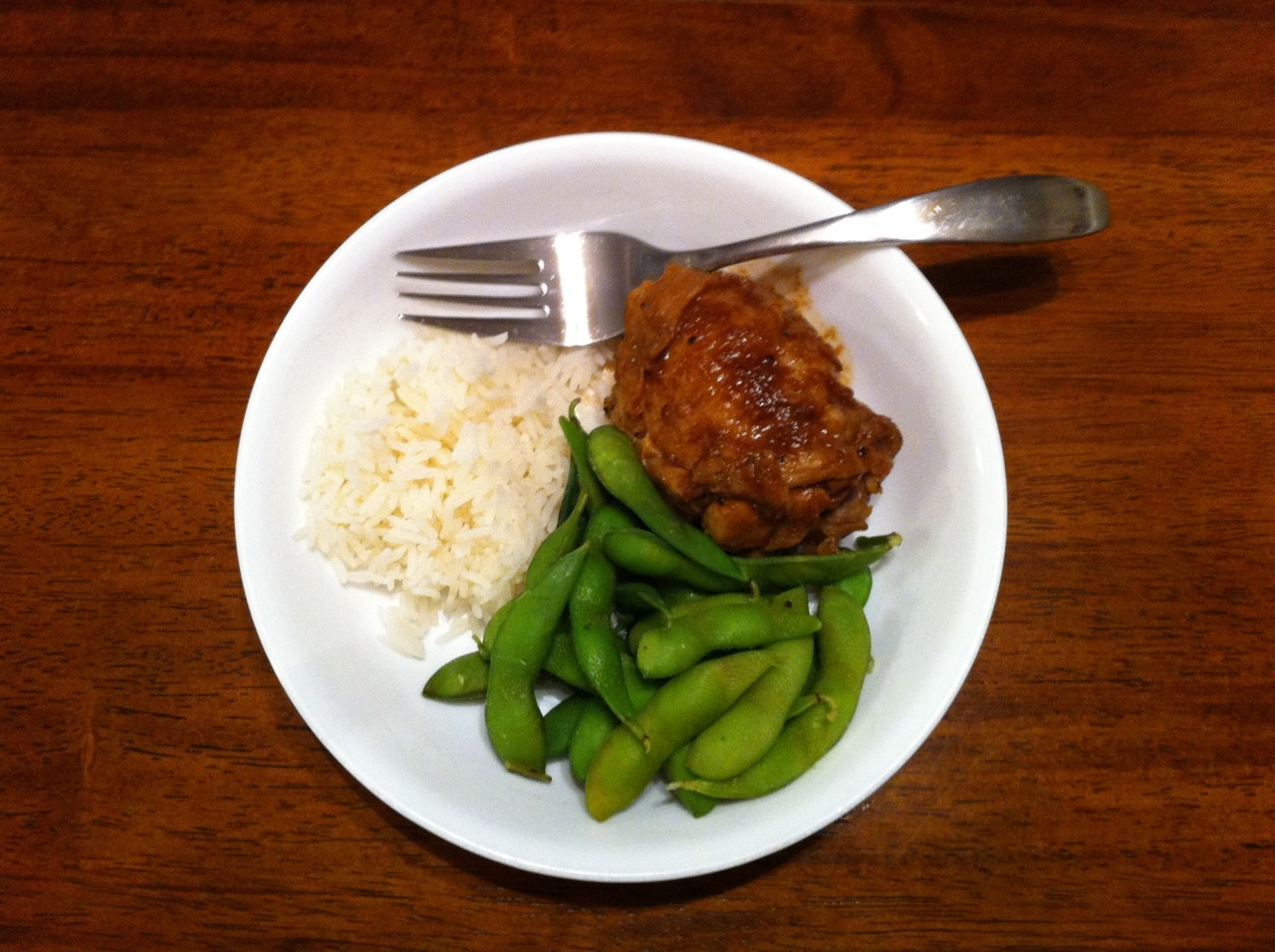 Shelby made us dinner the other night. Adobo Chicken with Edamame. Lots of flavor! Thanks Shelby :)