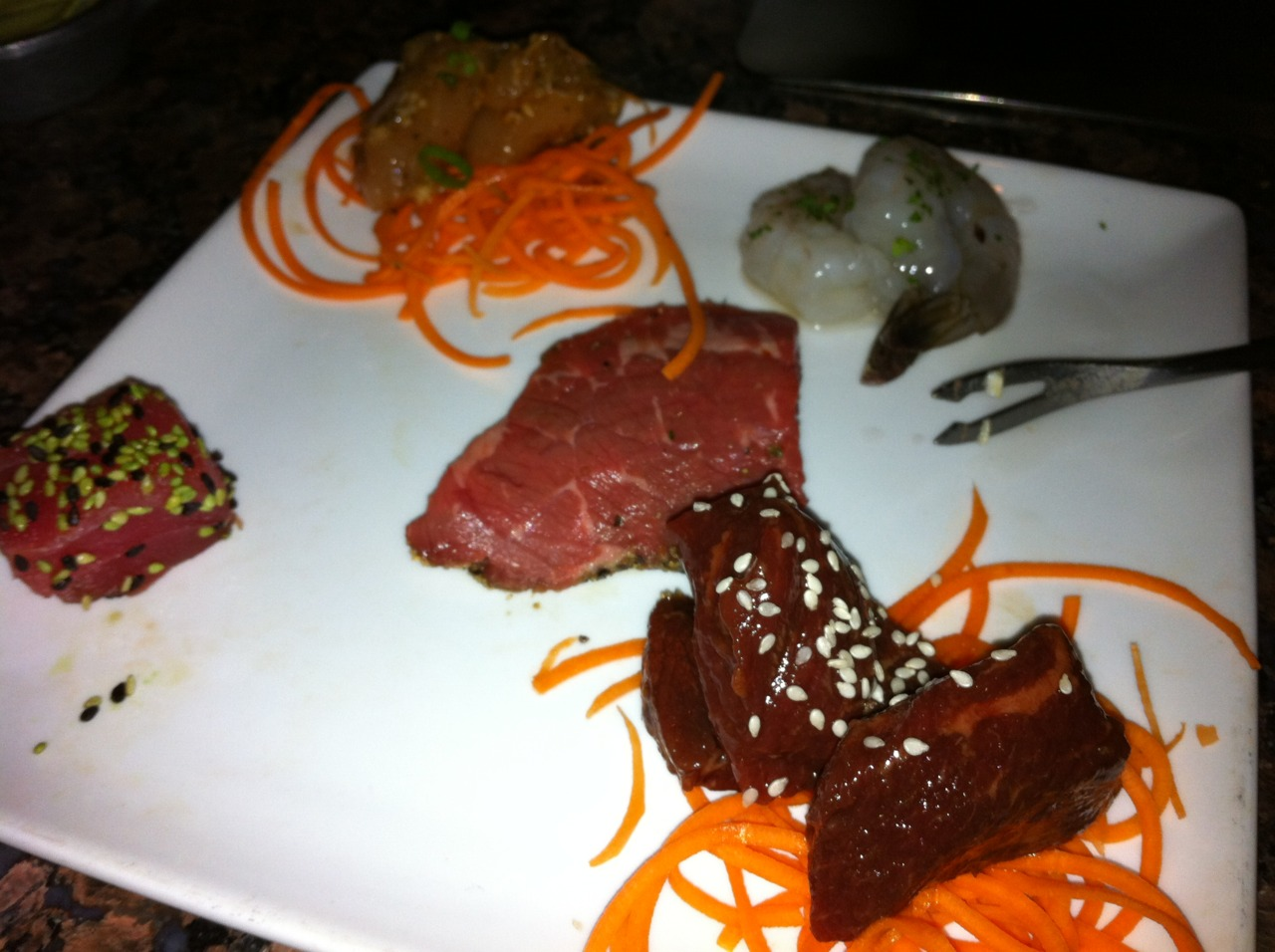 Part of our meal at the localfonduespot, The Melting Pot.