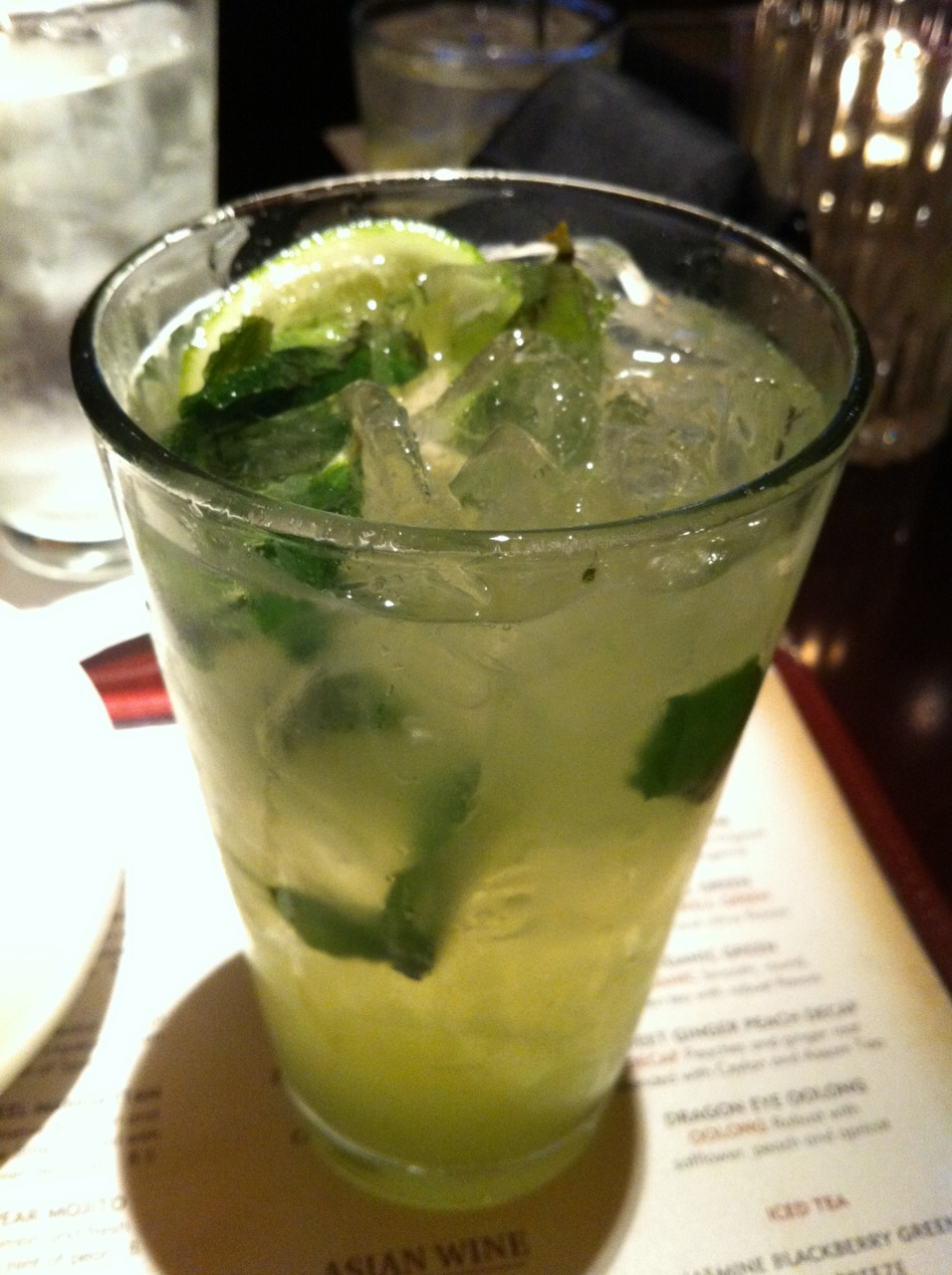 The Asian Pear Mojito at P.F. Chang's was great.