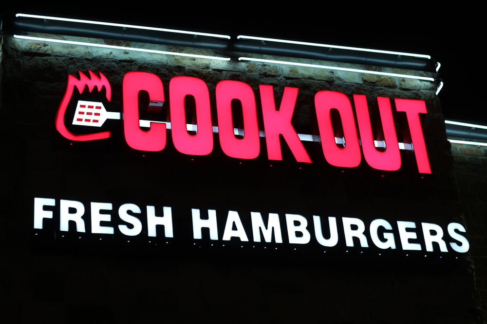 Cook Out in Norfolk, VA.