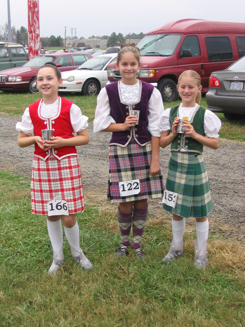 Marleigh (center) placed 1st in her class, Richmond games 2003