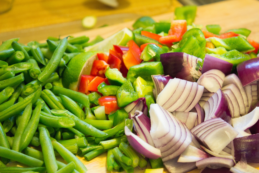 Vegetables ready for the wok