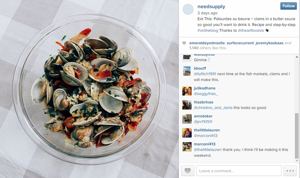 The recipe was featured on Need's Instagram too!