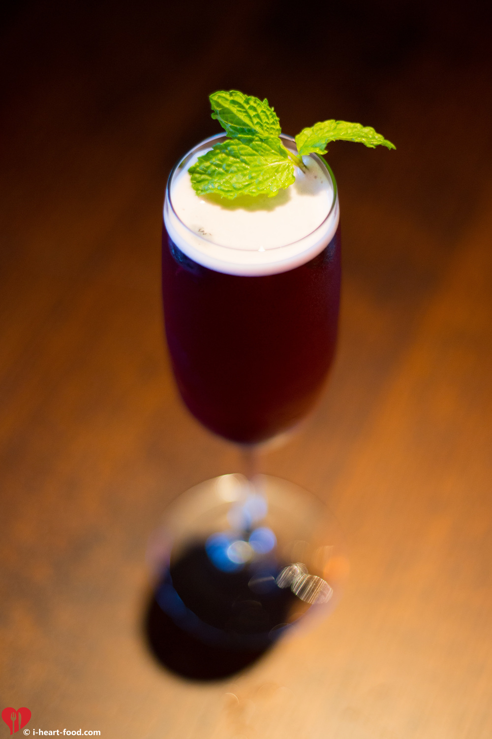 """Violet Beauregarde"" Champange Cocktail"