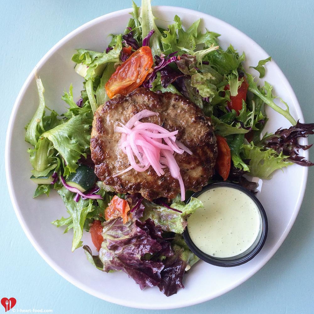 Lamb Burger Salad
