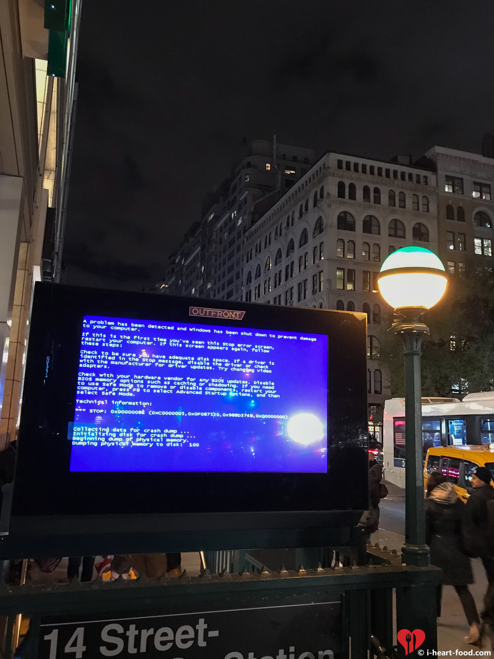 Union Square BSOD, I had to take a pic lol