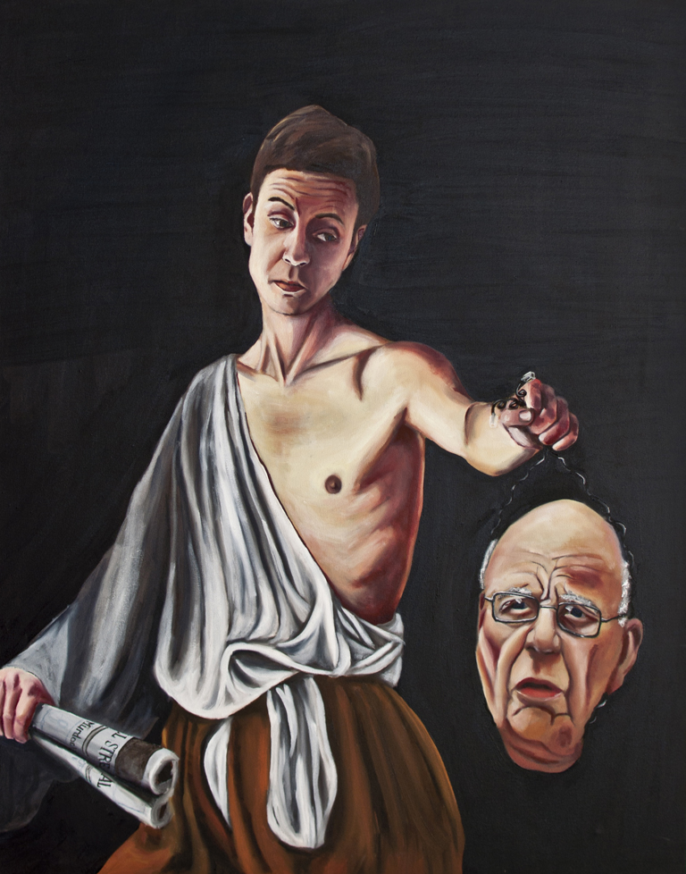 David and Murdoch as Goliath
