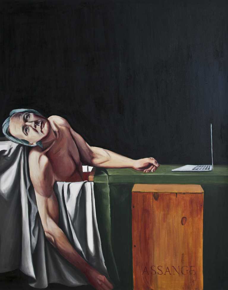 Death of Assange as Marat