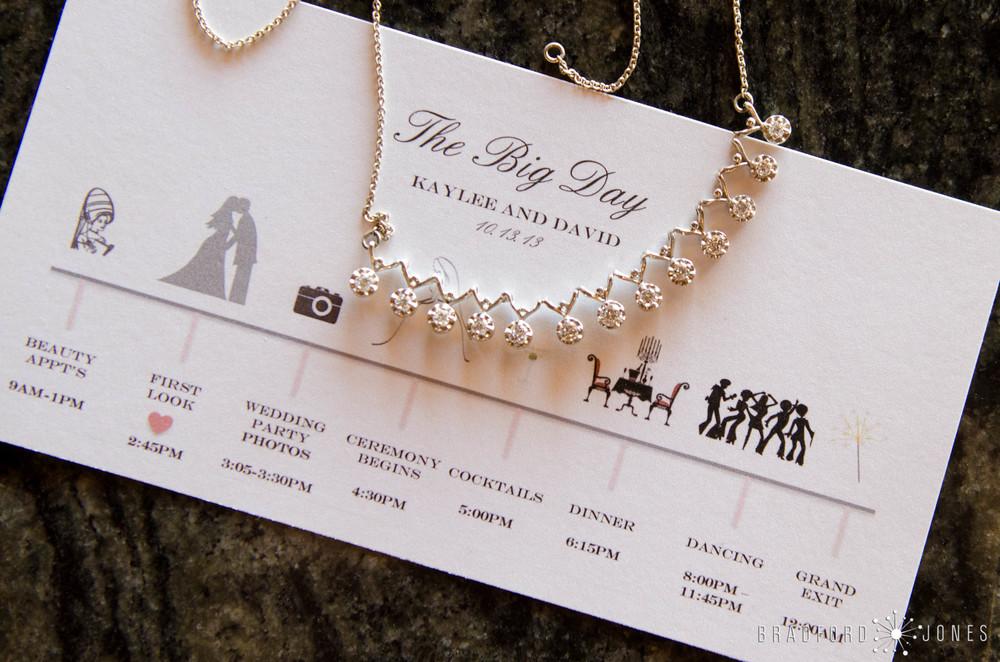 Bride's Schedule