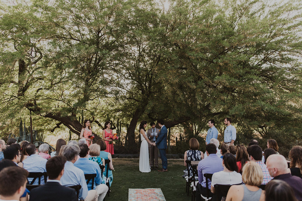 arizona bohemian wedding