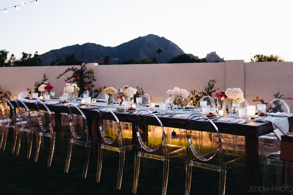 Arizona Wedding Planner Andaz Reception Tables