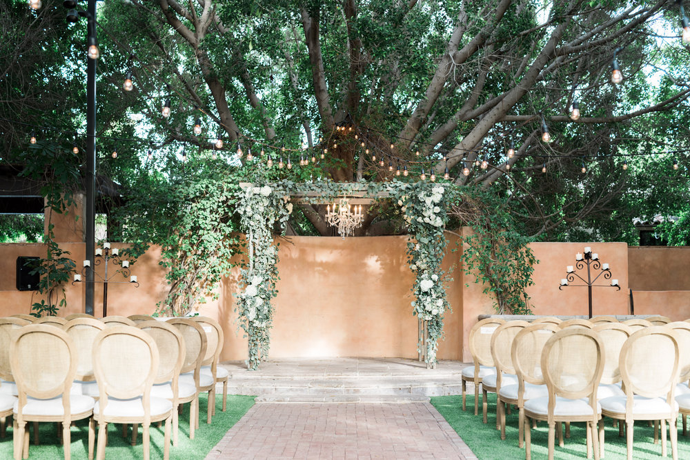 Arizona Wedding Planner Royal Palms Arch