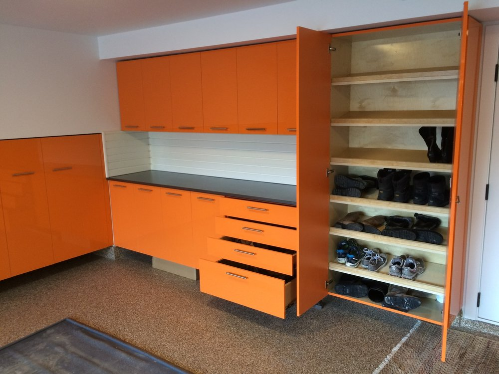 High Gloss Cabinetry in Orange
