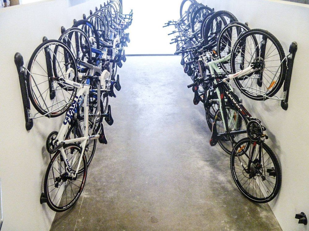 A typical storage room would have no space for this many bicycles, but with SteadyRack you can easliy store and access as many bicycles as our heart desires!