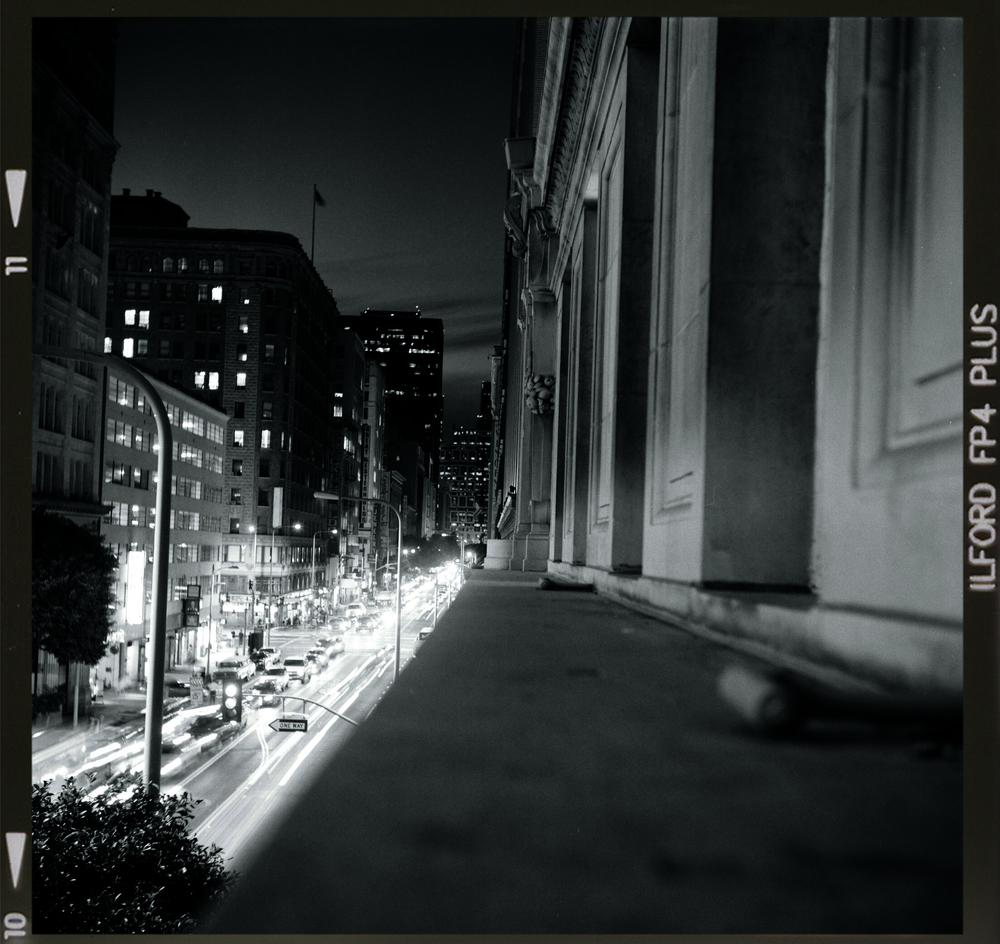 NOV13_B&W_DTLA NIGHT FRM WINDOW_W BORDER.jpg