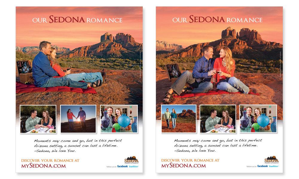 Ad Design for Sedona Tourism