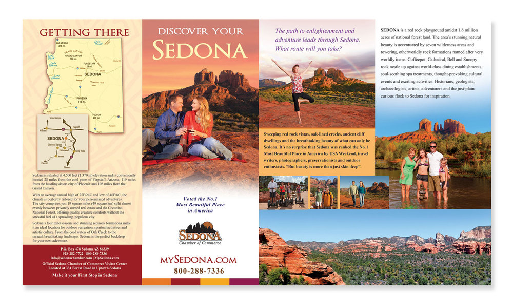 Brochure Design for Sedona Tourism