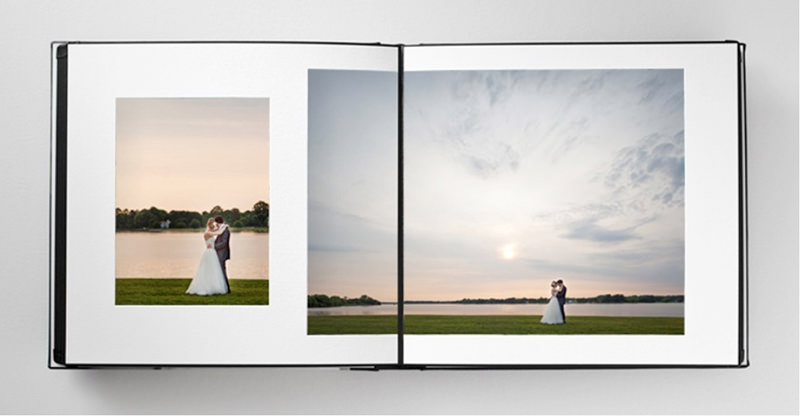 fine art wedding album photographs leather spread quality best