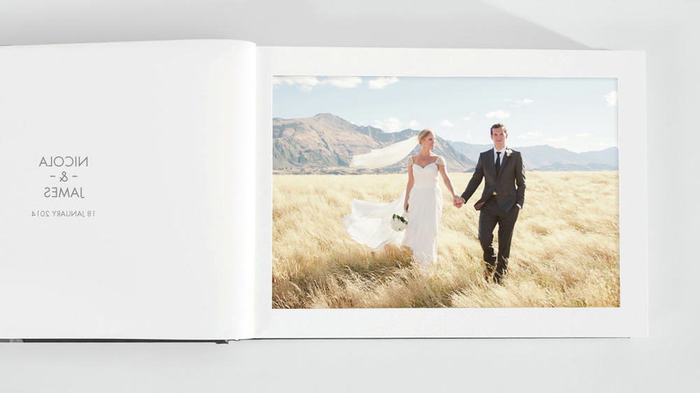 fine art album image bride groom mountains