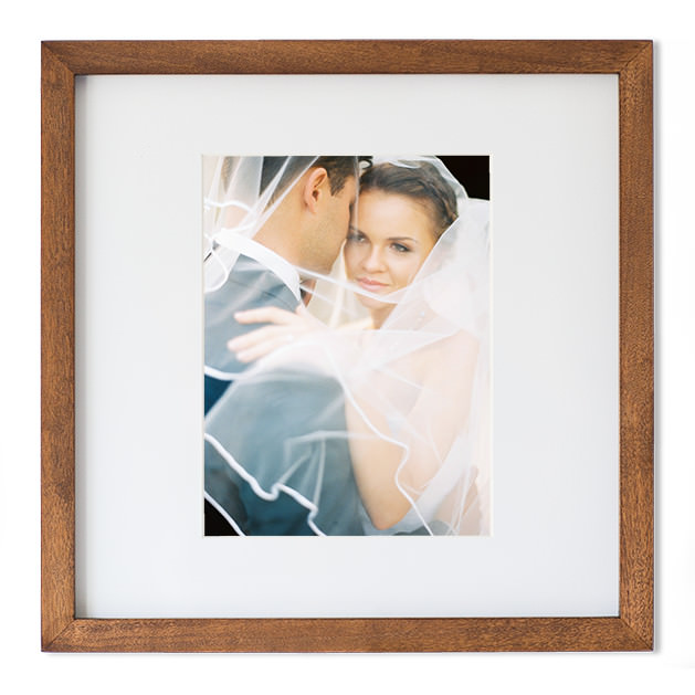 fine art wedding picture frame acorn timber married couple