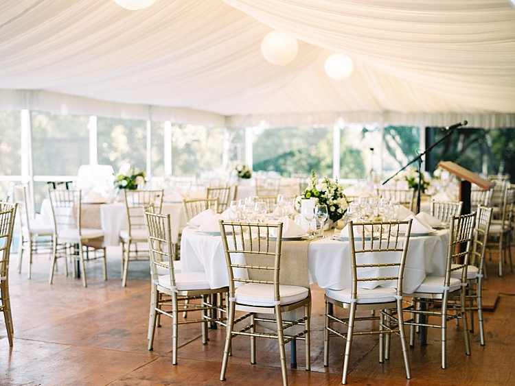 000009 Brisbane Fine Art Wedding Photograph of reception setup gold chairs and styling with centerpiece florals.jpg