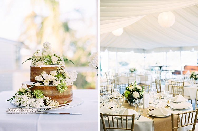 000009 Brisbane Fine Art Wedding Photograph of reception setup gold styling and wedding cake with florals.jpg