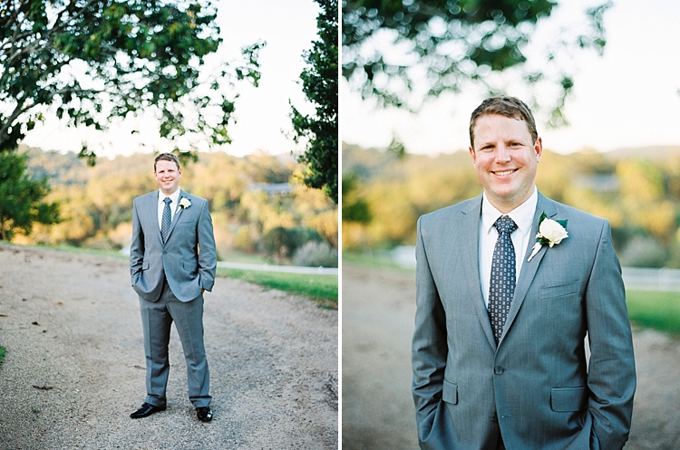 000015 Brisbane Fine Art Wedding Photograph of portrait of the groom in grey suit and navy tie.jpg